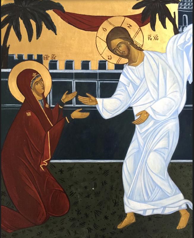 - Icône du Ressuscité avec Marie